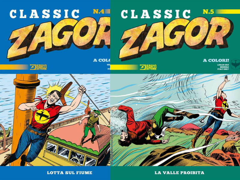Lotta sul fiume e La Valle proibita – Zagor Classic nn.4-5 (giugno-luglio 2019)