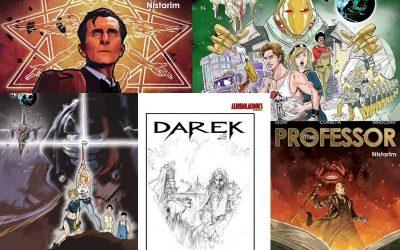 La Liguria creativa a fumetti: il ritorno di The Professor e di Darek e l'esordio di Test1